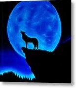 Wolf Howling  Metal Print