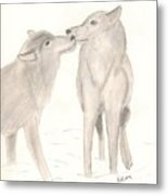 Wolf Lovers Metal Print