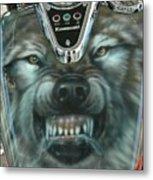 Wolf Motorcycle Gas Tank Metal Print