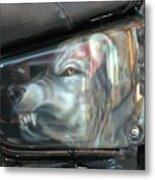 Wolf Motorcycle Side Panel Metal Print