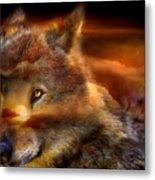 Wolfland Metal Print