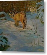 Wolves Of Maine Metal Print
