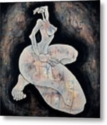 Woman 14  From When De Body Talks Collection Metal Print