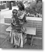 Woman And Child Sculpture Grand Junction Co Metal Print