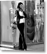 Woman And Mannequins Metal Print