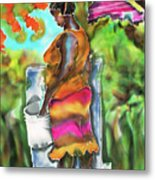 Woman At The Well Metal Print