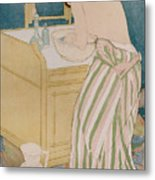 Woman Bathing Metal Print