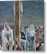 Woman Behold Thy Son Metal Print