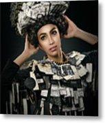 Woman Dressed In Price Tag Metal Print