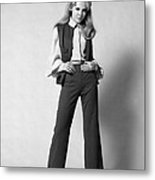 Woman In A Pantsuit, C.1960-70s Metal Print