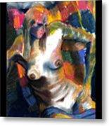 Woman In Color Metal Print