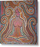 Woman In Meditative Bliss Metal Print