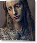 Woman In Painterly Look Metal Print