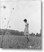 Woman In Summer Meadow, C.1970s Metal Print