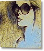 Woman In Sunglasses Metal Print