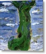 Woman In The Wind By The Sea 1907 Metal Print