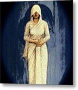 Woman In White - Widow Metal Print