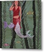 Woman Of The Waves Metal Print