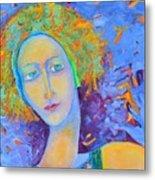 Woman Oil Portrait  Metal Print