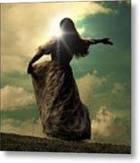 Woman On A Meadow Metal Print