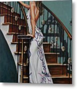 Woman On A Staircase 3 Metal Print