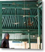 Woman On Mosque Metal Print
