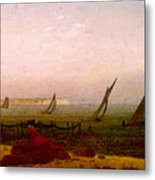 Woman On The Beach Of Rugen  Metal Print