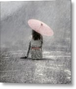 Woman On The Street Metal Print