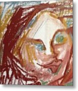Woman Out Of Present Time Metal Print