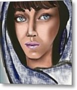 Woman Portrait Metal Print