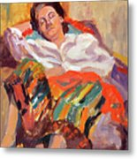 Woman Sleeping Metal Print