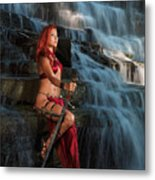 Woman Warrior Metal Print