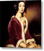 Woman Wearing A Velvet Pelisse  Metal Print