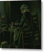 Woman Winding Yarn Nuenen, March 1885 Vincent Van Gogh 1853 - 1890 Metal Print