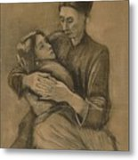 Woman With A Child On Her Lap The Hague, March 1883 Vincent Van Gogh 1853 - 1890 Metal Print