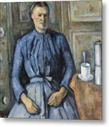 Woman With A Coffeepot  Metal Print