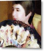 Woman With A Fan Metal Print