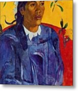 Woman With A Flower 1891 Metal Print