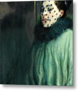 Woman With A Veil Metal Print