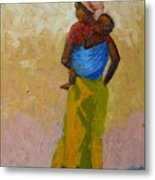 Woman With Baby Metal Print