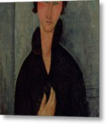 Woman With Blue Eyes Metal Print by Amedeo Modigliani