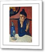 Woman With Coffee Femme Au Cafe Metal Print