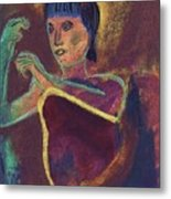 Woman With  Green Arm Metal Print