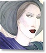 Woman With Hat Metal Print