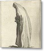 Woman With Long Veil Metal Print