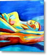 Womanly Figure Metal Print