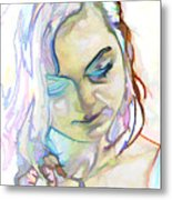 Women Body - Color Face1 Metal Print