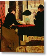Women By Lamplight Metal Print