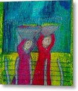 Women Carrying Wash Metal Print
