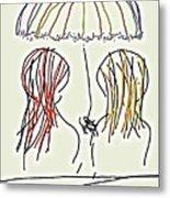 Women Hoping For Rain 2 Metal Print